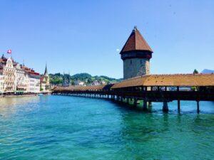 """Lucerne - Pont de la Chapelle """"Kapellbrücke"""""""