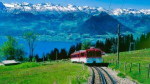 RIGI Bahn ist die erste Bergbahn Europas